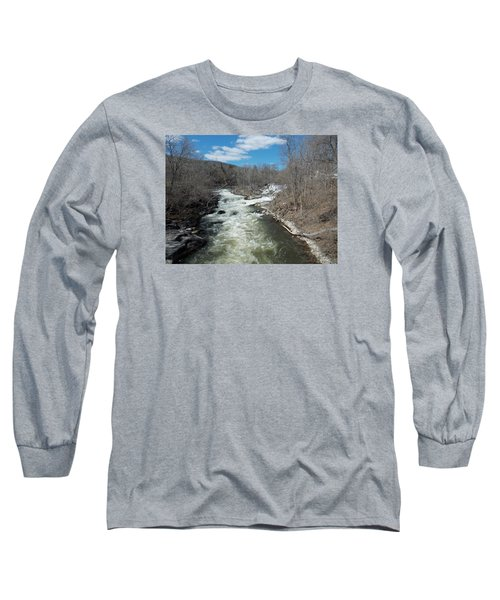 Blue Skies Over The Housatonic River Long Sleeve T-Shirt by Catherine Gagne