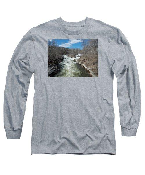 Blue Skies Over The Housatonic River Long Sleeve T-Shirt