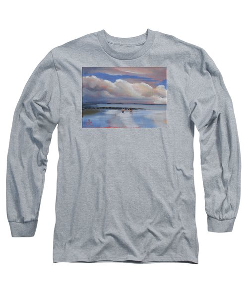 Blue Sky And Clouds I Long Sleeve T-Shirt