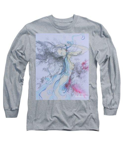 Blue Smoke And Mirrors Long Sleeve T-Shirt by Marat Essex
