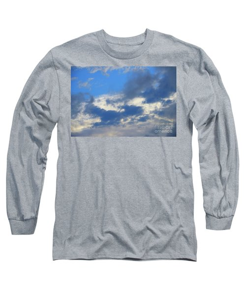 Blue Two Long Sleeve T-Shirt by Jesse Ciazza