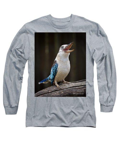 Blue Winged Kookaburra Long Sleeve T-Shirt