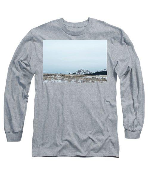 Blue Winter Long Sleeve T-Shirt