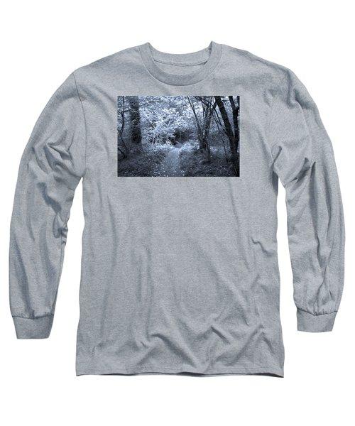 Blue Wood Long Sleeve T-Shirt