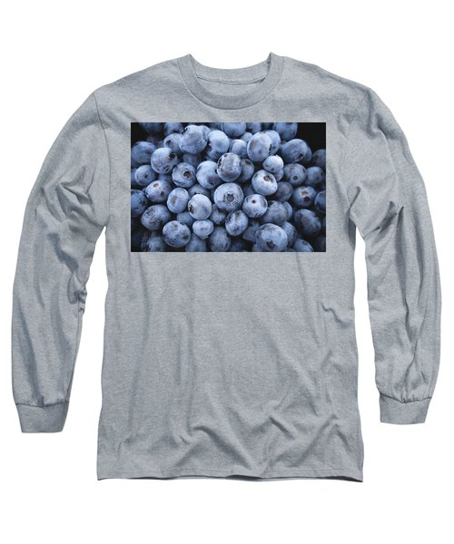 Blueberries Long Sleeve T-Shirt by Happy Home Artistry