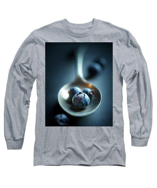 Blueberries Macro Still Life Long Sleeve T-Shirt
