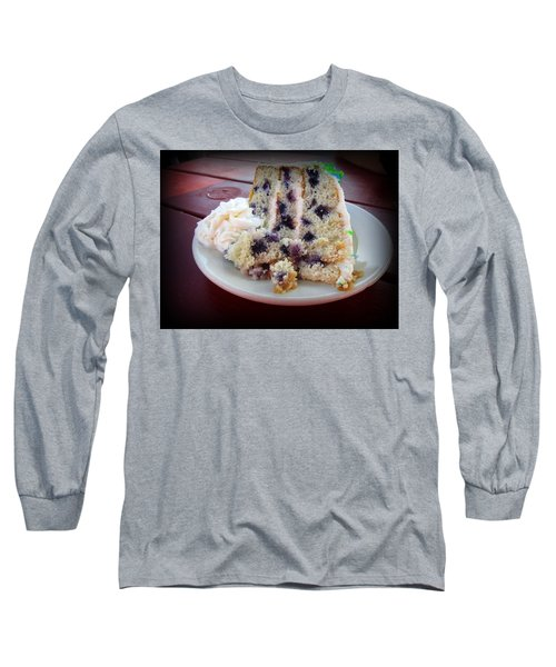 Blueberry Cake With Lemon Icing Long Sleeve T-Shirt