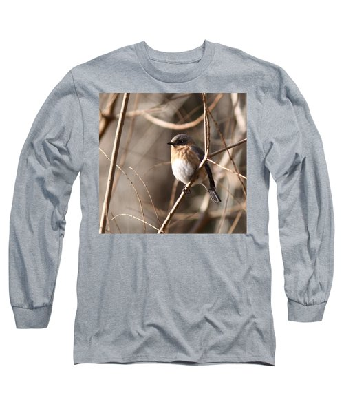 Bluebird In Beige Long Sleeve T-Shirt