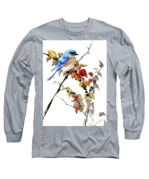 Bluebird In The Fall Long Sleeve T-Shirt