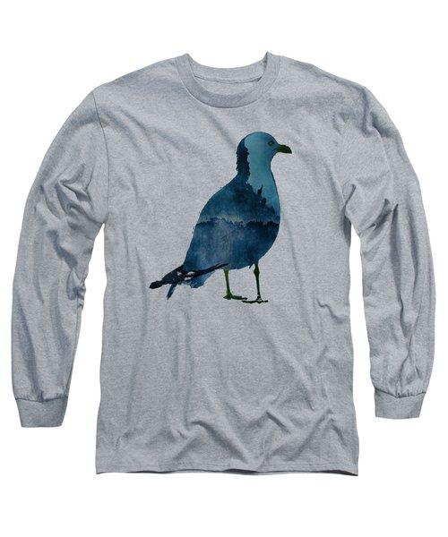 Bluegull Of Art T-shirt Long Sleeve T-Shirt by Majula Warmoth