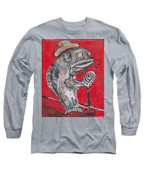 Blues Cat Singer Long Sleeve T-Shirt