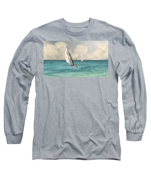 Bluewater Cruising Sailboats Long Sleeve T-Shirt