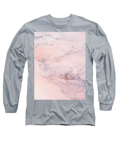 Blush Marble Long Sleeve T-Shirt