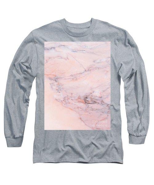 Blush Marble Long Sleeve T-Shirt