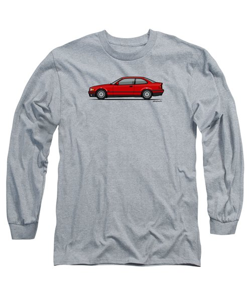 Bmw 3 Series E36 Coupe Red Long Sleeve T-Shirt