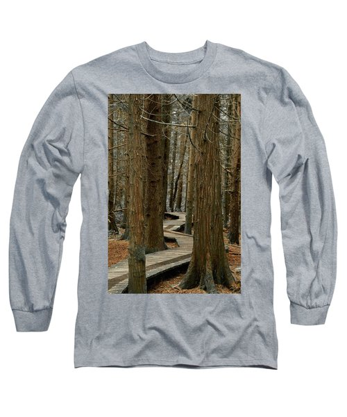 Boardwalk Among Trees Long Sleeve T-Shirt