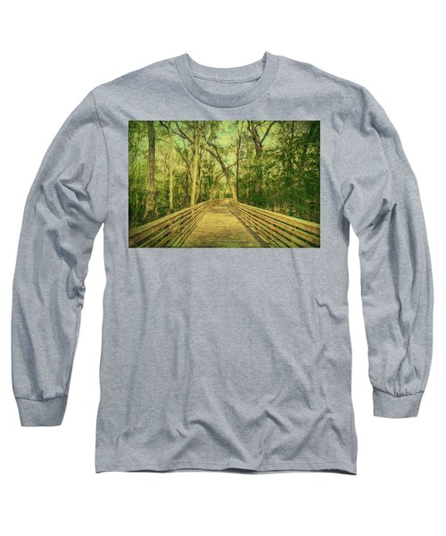 Long Sleeve T-Shirt featuring the photograph Boardwalk by Lewis Mann