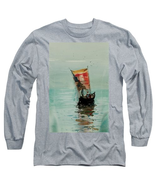 Boat Long Sleeve T-Shirt by Helal Uddin
