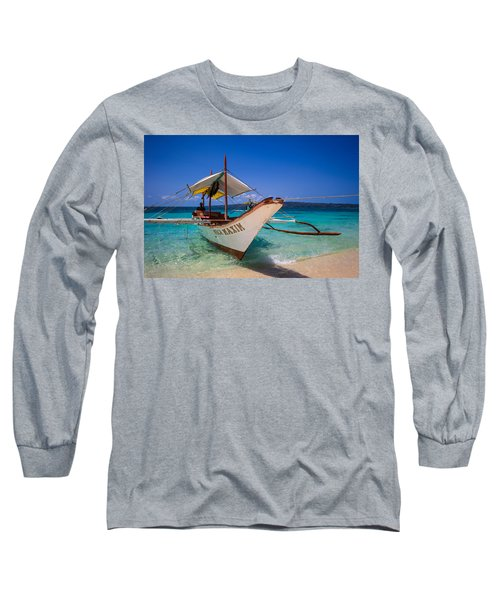 Boat On Boracay Island Long Sleeve T-Shirt