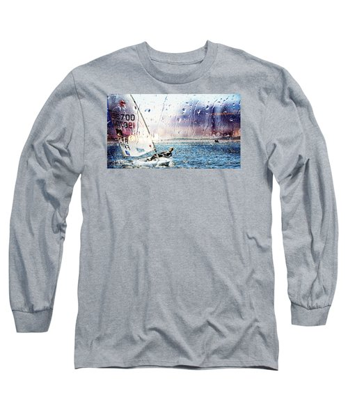 Boat On The Sea Long Sleeve T-Shirt