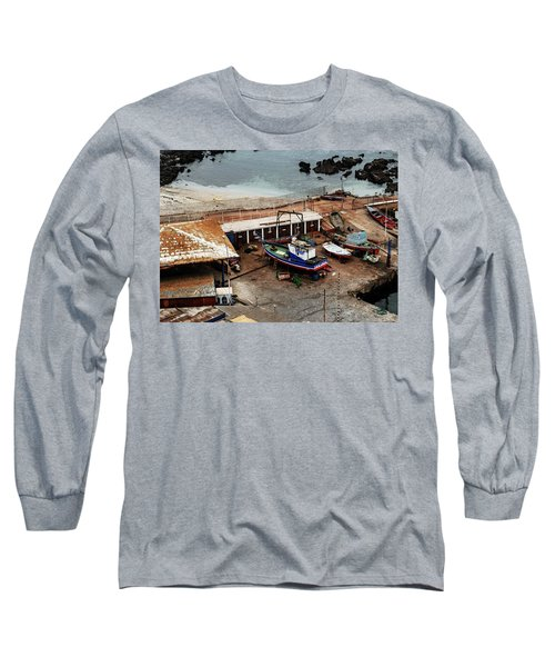 Boat Yard Iquique Harbor Chile Long Sleeve T-Shirt