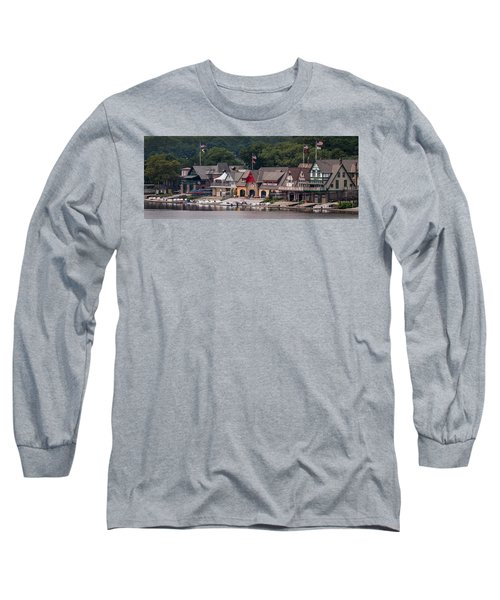 Boathouse Row Philadelphia Pa  Long Sleeve T-Shirt by Terry DeLuco