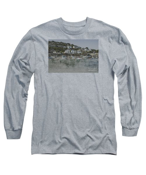 Long Sleeve T-Shirt featuring the photograph Boats At Looe by Brian Roscorla