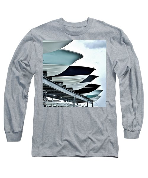 Boatyard, Tiki 52 Long Sleeve T-Shirt by John Wartman