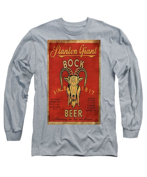 Long Sleeve T-Shirt featuring the digital art Bock Beer by Greg Sharpe