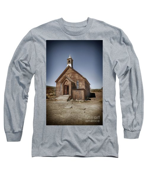 Long Sleeve T-Shirt featuring the photograph Bodie Church by Jim  Hatch