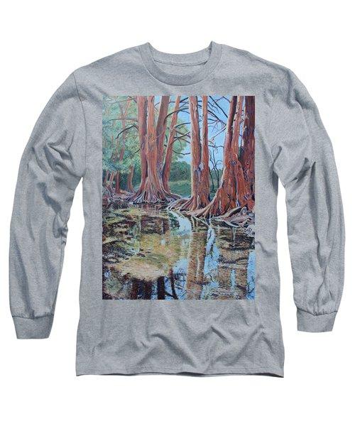 Boerne River Scene Long Sleeve T-Shirt
