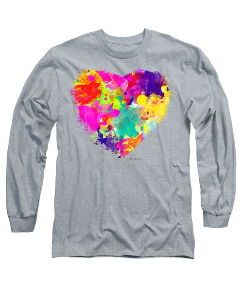 Bold Watercolor Heart - Tee Shirt Design Long Sleeve T-Shirt