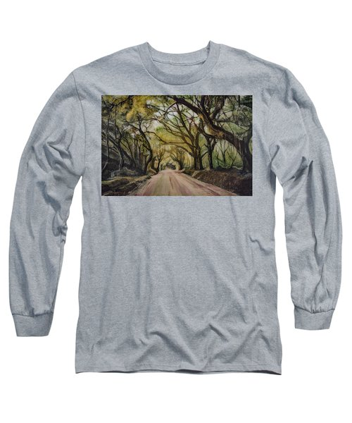 Long Sleeve T-Shirt featuring the painting Bombay Road by Ron Richard Baviello