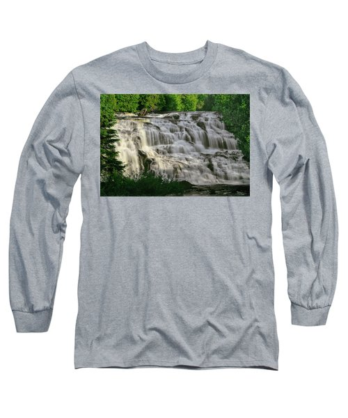 Long Sleeve T-Shirt featuring the photograph Bond Falls - Haight - Michigan 001 by George Bostian