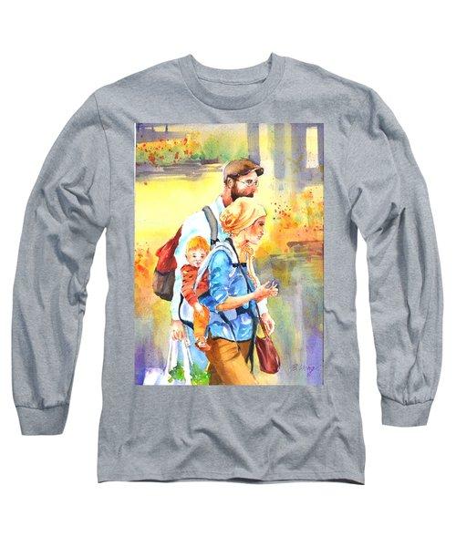Bonding #5 Long Sleeve T-Shirt by Betty M M Wong