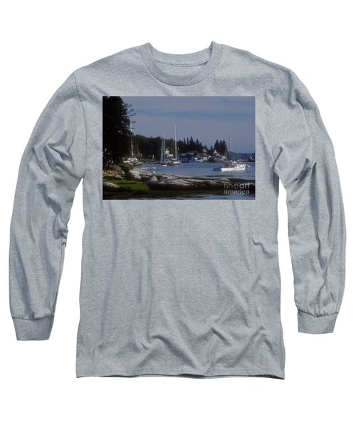 Boothbay Harbor In Maine Long Sleeve T-Shirt