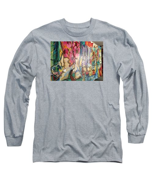 Boots On The Ground Long Sleeve T-Shirt by Heather Roddy