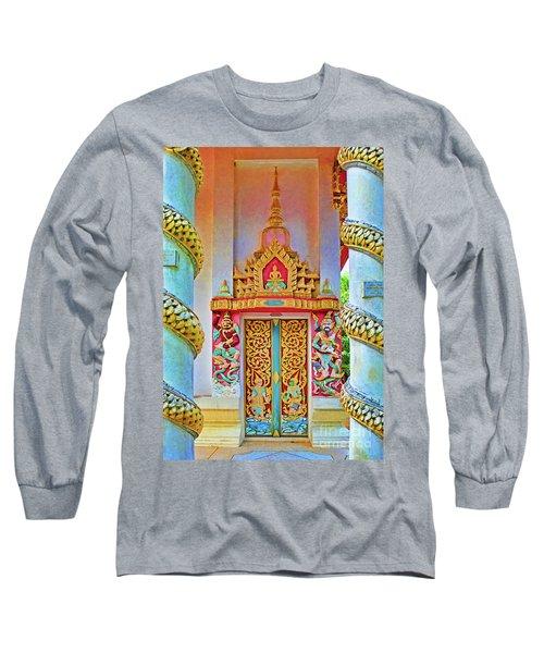 Bophut Temple In Thailand Long Sleeve T-Shirt