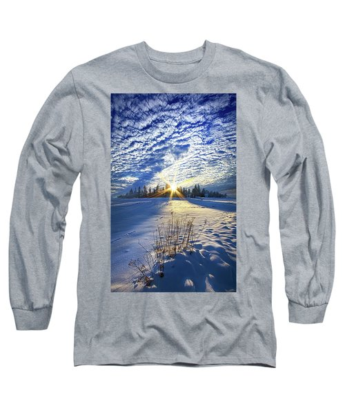 Long Sleeve T-Shirt featuring the photograph Born As We Are by Phil Koch