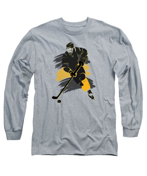 Boston Bruins Player Shirt Long Sleeve T-Shirt by Joe Hamilton