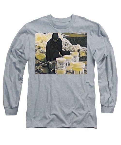 Boston Bucket Man Long Sleeve T-Shirt