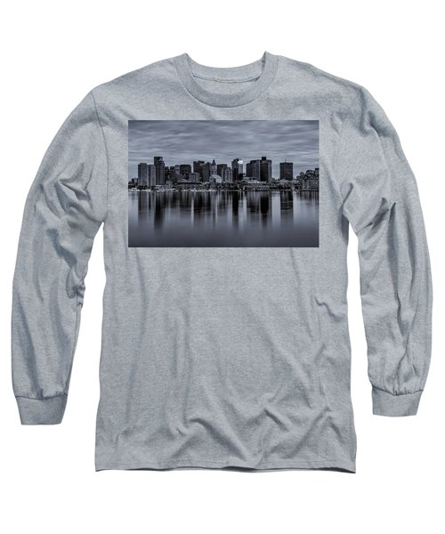 Boston In Monochrome Long Sleeve T-Shirt