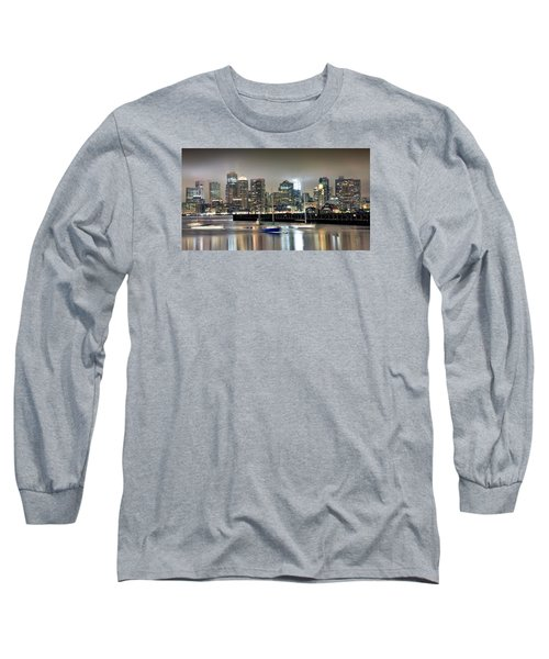 Boston Massachusetts Long Sleeve T-Shirt by Brendan Reals