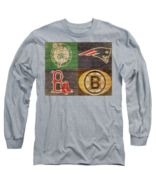 Boston Sports Teams Barn Door Long Sleeve T-Shirt