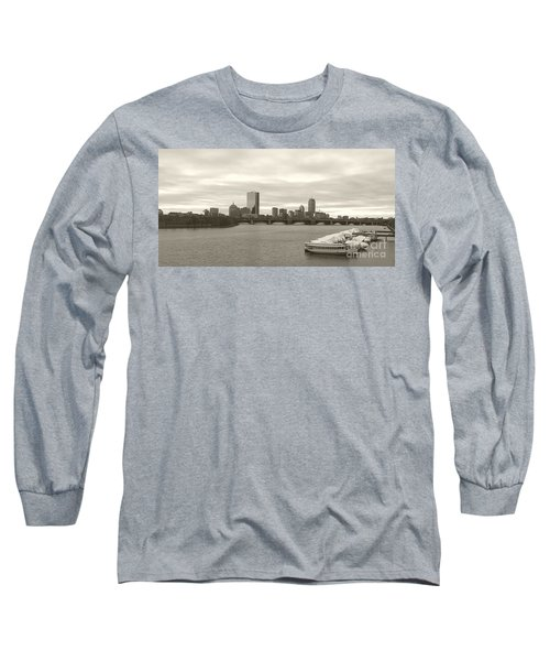 Boston View Long Sleeve T-Shirt by Raymond Earley