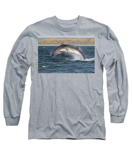 Long Sleeve T-Shirt featuring the photograph Bottlenose Dolphins - Moray Firth Scotland #47 by Karen Van Der Zijden