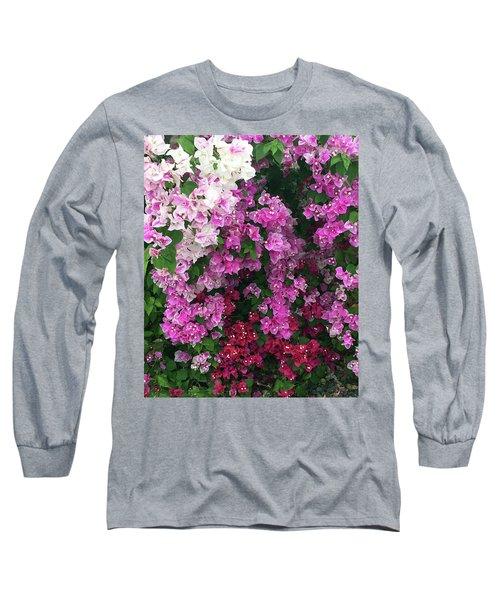 Bougainville Flowers In Hawaii Long Sleeve T-Shirt by Karen Nicholson