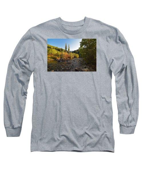 Boulder Colorado Canyon Creek Fall Foliage Long Sleeve T-Shirt