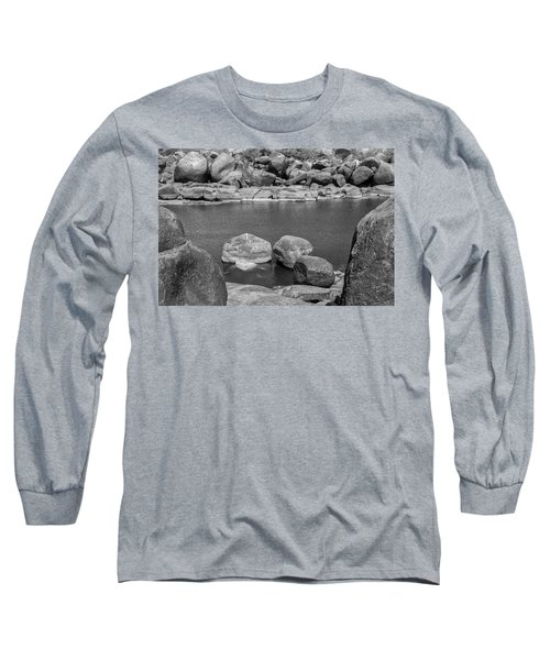 Long Sleeve T-Shirt featuring the photograph Boulders Of Tungabhadra, Hampi, 2017 by Hitendra SINKAR