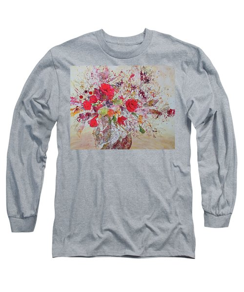 Long Sleeve T-Shirt featuring the painting Bouquet Desjours by Joanne Smoley